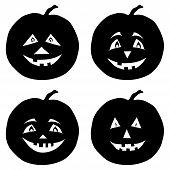 Pumpkins Jack O Lantern, silhouettes