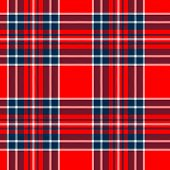 Tartan traditional checkered british fabric seamless pattern, red and blue, vector