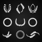 collection of vector laurel wreaths for award