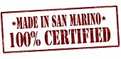 Made In San Marino One Hundred Percent Certified