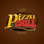 Menu pizza and grill.