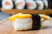 Close Up Of Sushi, Japanese Seafood