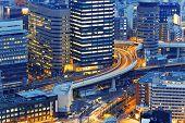 Dense skyline of Umeda District, Osaka, Japan