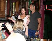 LOS ANGELES - AUG 1:  Nancy Lee Grahn, William deVry at the William deVry Fan Club Event at the Cali