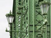 Detail Of Liberty Bridge Budapest