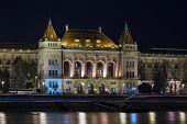 University At Night In Budapest