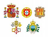 Coats Of Arms Of European Flags 1