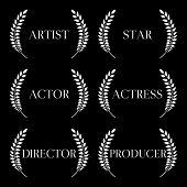 Film Stars Laurels Black And White 1