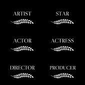Film Stars Laurels Black And White 2