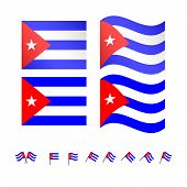 picture of greater antilles  - Set of flags of Cuba eps 10 - JPG