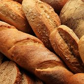 fresh bread on the wooden
