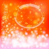 Red Festive Christmas Background With Snowflakes And Sparkling Lights, Create By Vector