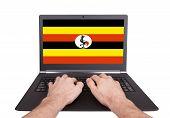 Hands Working On Laptop, Uganda