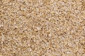 texture and background of wheat bran - top view