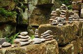 A Small Pyramid Of Pebbles
