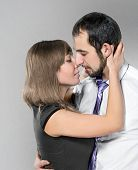 Couple Before Kiss