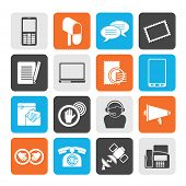 Silhouette Contact and communication icons