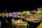 Supetar port by night