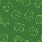 Dices seamless background.