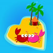 Crabs in love island