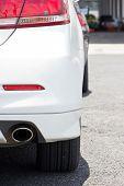 Close Up Image Of Car At Parking Lot.