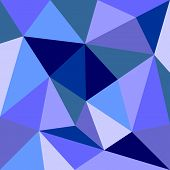 Triangle vector background or seamless grey, blue, white and navy pattern