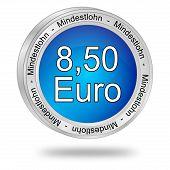 8,50 Euro minimum wage - in german