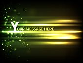 EPS10 vector abstract effect against dark background for the text of your choice; composition is colored in shades of green and yellow