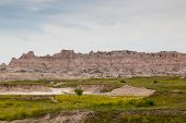 Horses In Badlands Landscape