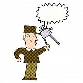 cartoon film maker with speech bubble
