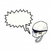 cartoon laughing pirate skull