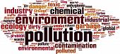 stock photo of noise pollution  - Pollution word cloud concept - JPG