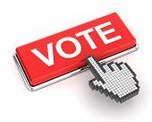 Clicking On Vote Button, 3D Render