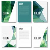 pic of brochure design  - Set of Colorful Modern Abstract Flyers  - JPG