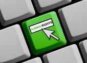 Computer Keyboard showing human rights