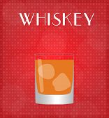 Drinks List Whiskey With Red Background