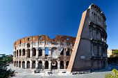 Rear view of the Colosseum
