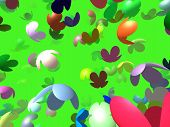 Flying Flowers Generated 3D Background