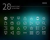 Global Web Outline Icons Set