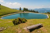 Accumulation lake on Golte, Slovenia