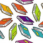 books seamless pattern on white