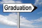 graduation day graduate and get a diploma at the university college or high school