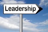 leadership follow team leader to success concept business leader or market leader business competition