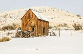 picture of outhouses  - Dilapidated wagon - JPG