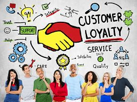 foto of loyalty  - Customer Loyalty Service Support Care Trust Casual Concept - JPG