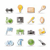 Simple Sports gear and tools icons