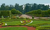 Avenue And Bed In Formal Garden
