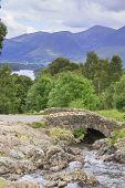picture of ashes  - Ashness Bridge in the lake district UK - JPG