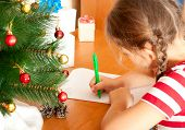 foto of letters to santa claus  - child write a letter to Santa Claus - JPG