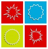 stock photo of starburst  - starburst splash star abstract background design set - JPG